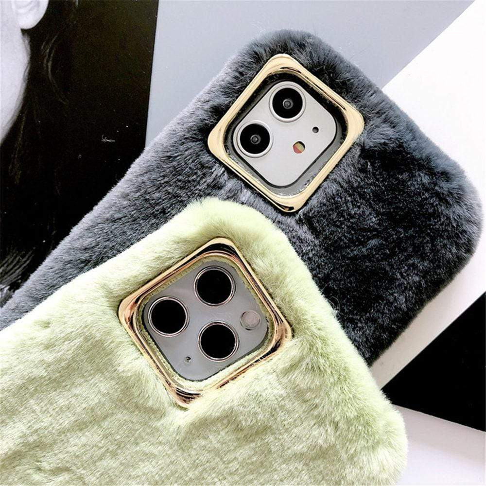 Warm & Soft Plush iPhone Case - PHONES FASHIONS