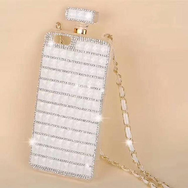Women Perfume Cover Case with Girly Cross-body Chain Strap for iPhone - PhonesFashions
