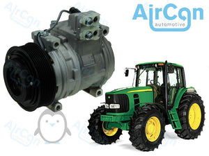 John Deere 6000, 6010, 6020, 6030 series air conditioning compressor AL174137, AL155836, AL153386, AL176857, AL78779 AL176858, RE203758, RE257084, AL174136, AL78493, TY6769, AL154203