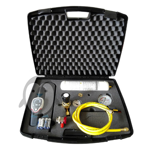 Tracer gas electronic leak detection kit