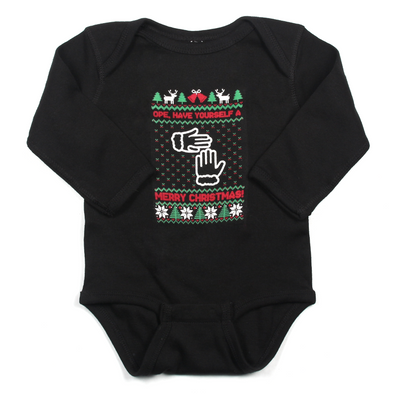 Not-So-Ugly Christmas Sweater (Infant Long Sleeve Onesie)