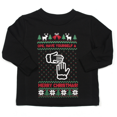 Not-So-Ugly Christmas Sweater (Toddler Long Sleeve Tee)