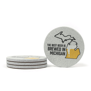 Brewed in Michigan Coaster Set