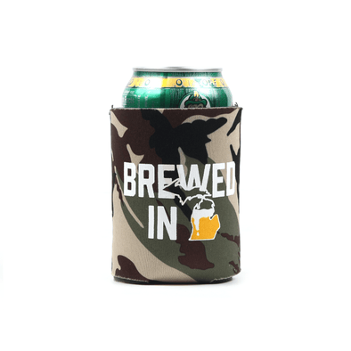 Brewed in MI Koozie (Camo)