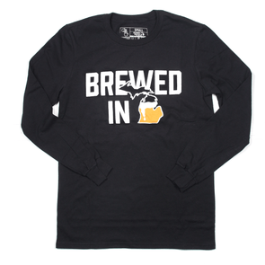 Brewed In Michigan Long Sleeve (Black)
