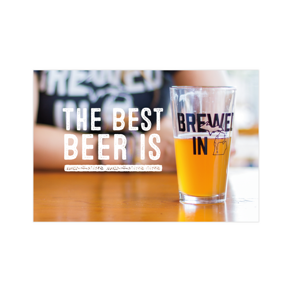 Brewed in Michigan Postcard