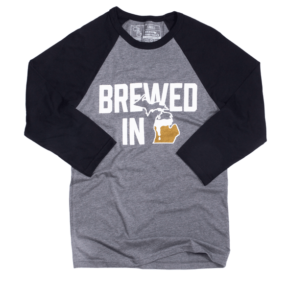 Brewed in Michigan Raglan