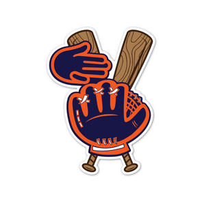 Baseball in the Mitt Sticker