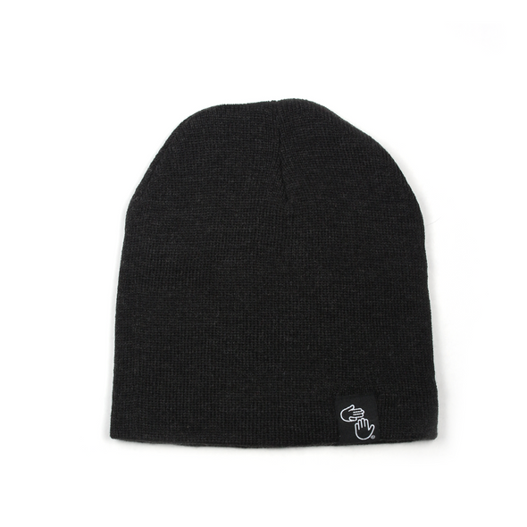 "8"" Knit Beanie (Charcoal)"