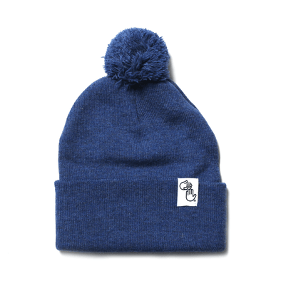 Pom Beanie (Heather Navy)