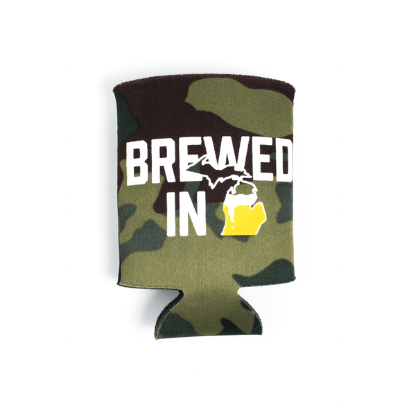 Brewed in MI Can Hugger (Camo)
