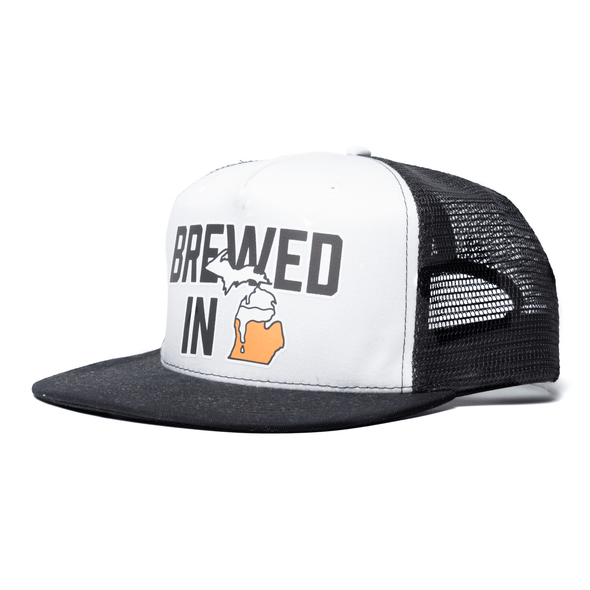Brewed in Michigan Trucker (2 Color)