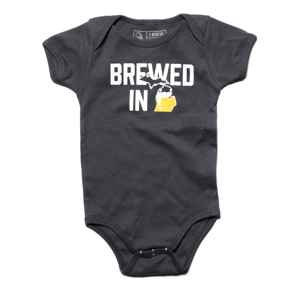 Brewed in Michigan Onesie