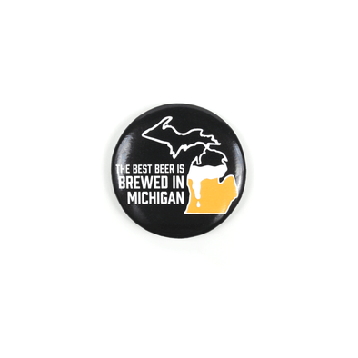 Brewed in Michigan Bottle Opener Magnet