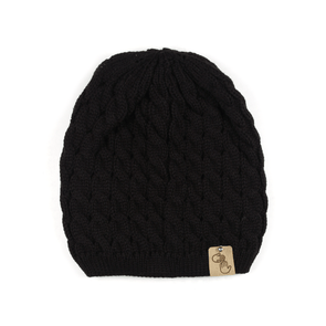 Sweater Knit Beanie (Black)