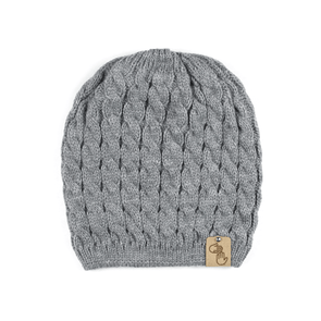 Sweater Knit Beanie (Grey)
