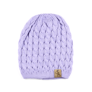 Sweater Knit Beanie (Purple)