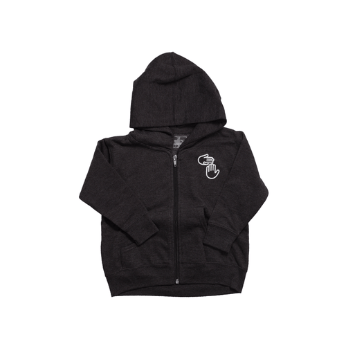 Michigan Hands Toddler Zip Hoodie (Charcoal)