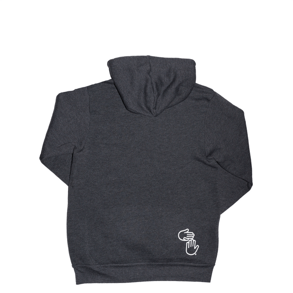 Michigan Hands Pullover Hoodie (Charcoal)