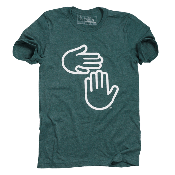 Michigan Hands Tee (Green and White)