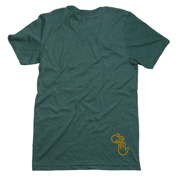 Michigan Hands Tee (Green and Gold)