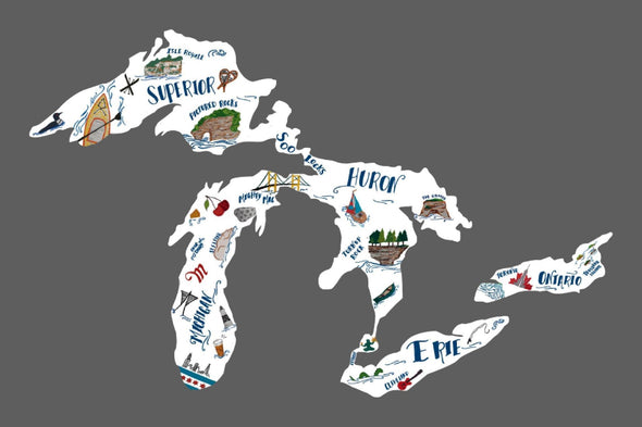 Great Lakes Proud Decal-Specialty