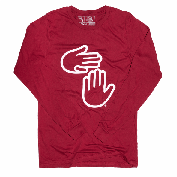 Michigan Hands Long Sleeve (Deep Red)