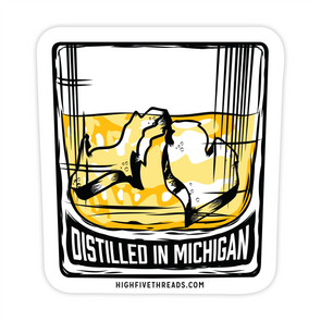 Distilled in Michigan Sticker