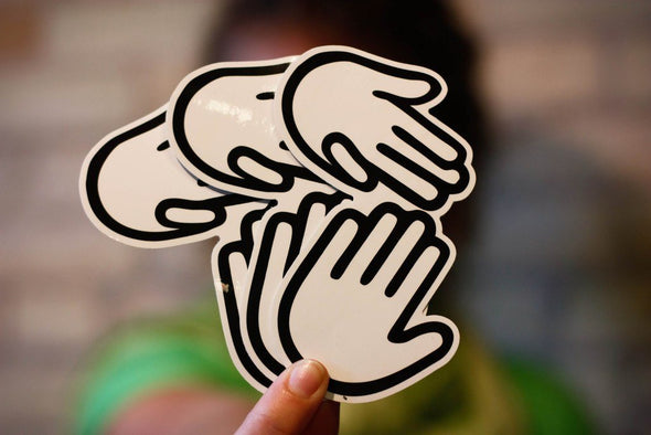 Small Classic Michigan Hands Sticker