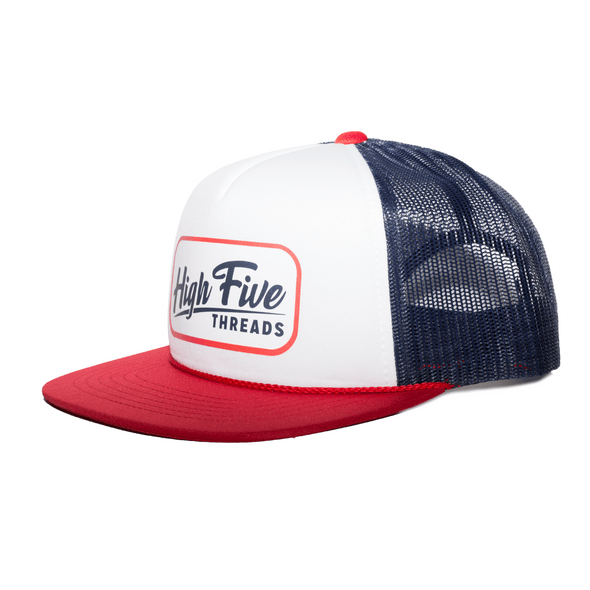 Red, White and Blue Trucker