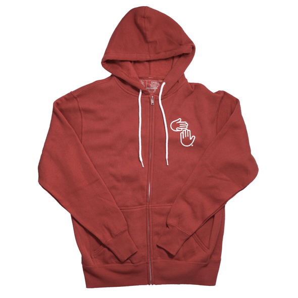 Michigan Hands Zip Hoodie (Iron Ore)