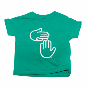 Michigan Hands Toddler Tee (Kelly Green)