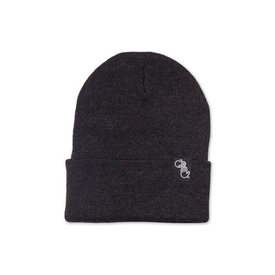 Knit Beanie (Charcoal)