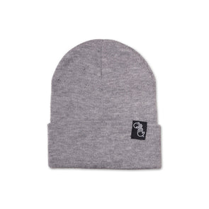 Knit Beanie (Heather Grey)