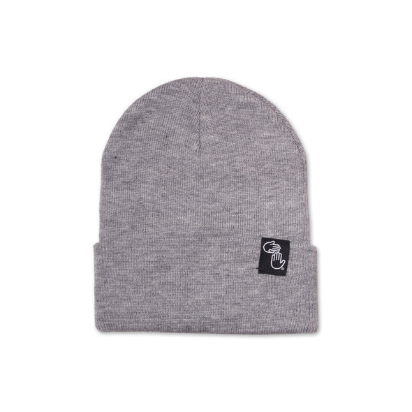 Knit Beanie (Light Heather Grey)