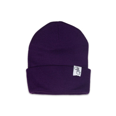Knit Beanie (Purple)
