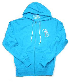 Michigan Hands Zip Hoodie (Lake Blue)