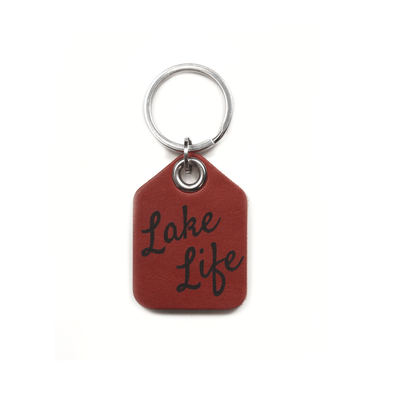 """Lake Life"" Leather Keychain"
