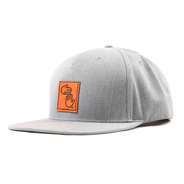 Leather Patch Trucker (Grey)
