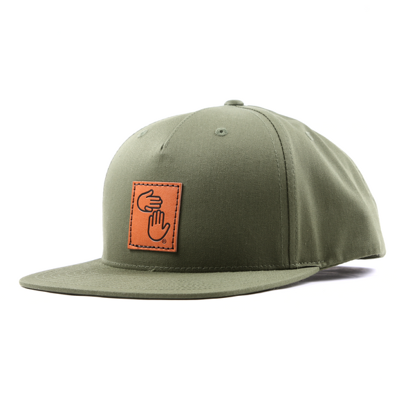 Leather Patch Trucker (Olive)