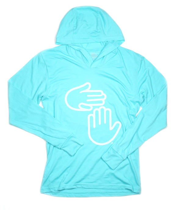Michigan Hands Lightweight Hoodie (Leland Blue)