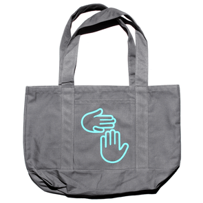 Michigan Hands Tote (Grey)