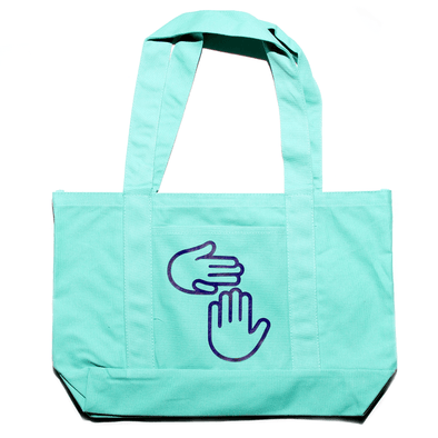 Michigan Hands Tote (Seaglass)