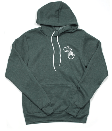 Michigan Hands Pullover Hoodie (Forest)