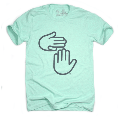 Michigan Hands Tee (Heather Mint)