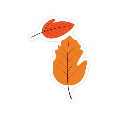 Michigan Leaf Sticker