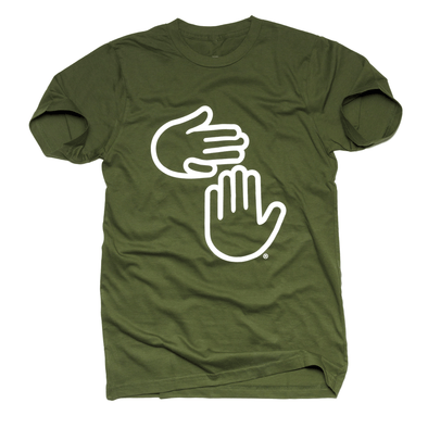 Michigan Hands Tee (Olive)