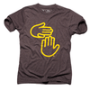 Michigan Hands Tee (Brown and Gold)