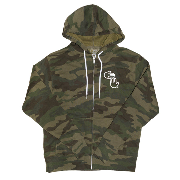 Michigan Hands Zip Hoodie (Camo)