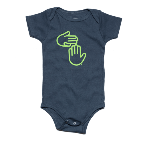 Michigan Hands Onesie (Deep Water Blue)